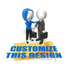 ID# 19662 - Business People Greet Custom - Presentation Clipart