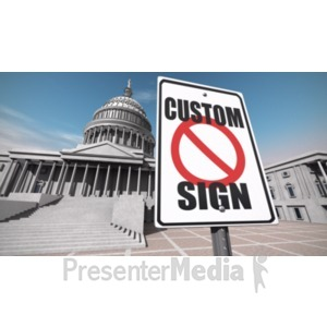 ID# 19679 - Us Capitol Sign Custom - Presentation Clipart