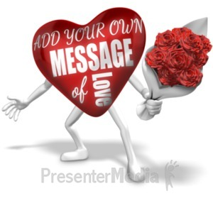 ID# 19786 - Heart Custom Holding Flowers - Presentation Clipart