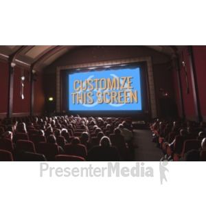 ID# 19793 - Movie Theater Custom - Presentation Clipart