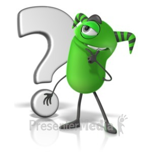ID# 19798 - M Monster Thinking - Presentation Clipart