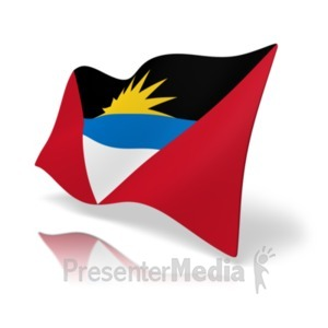 ID# 19803 - Flag Antigua and Barbuda - Presentation Clipart