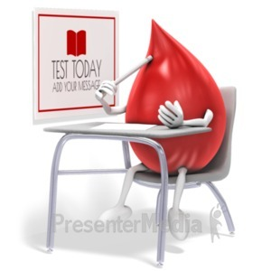 ID# 19822 - Blood Test - Presentation Clipart