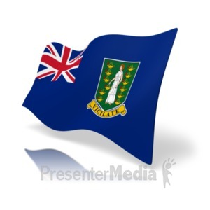 ID# 19850 - Flag British Virgin Islands - Presentation Clipart