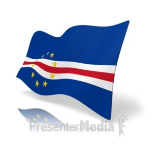 ID# 19857 - Flag Cape Verde - Presentation Clipart
