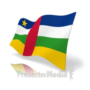ID# 19859 - Flag Central African Republic - Presentation Clipart