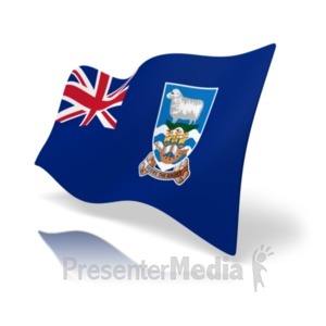 ID# 19872 - Flag Falkland Islands - Presentation Clipart