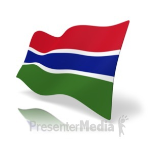 ID# 19885 - Flag Gambia - Presentation Clipart