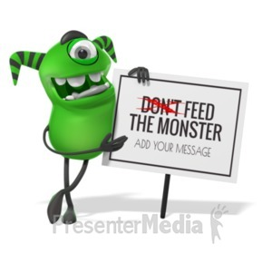 ID# 19918 - Monster Lean Sign - Presentation Clipart