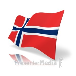 ID# 19923 - Flag Norway - Presentation Clipart