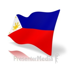 ID# 19927 - Flag Philippines - Presentation Clipart