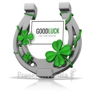 ID# 19943 - Lucky Horseshoe Sign - Presentation Clipart