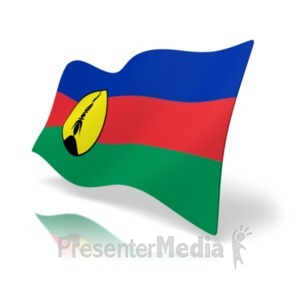 ID# 19946 - Flag New Caledonia - Presentation Clipart