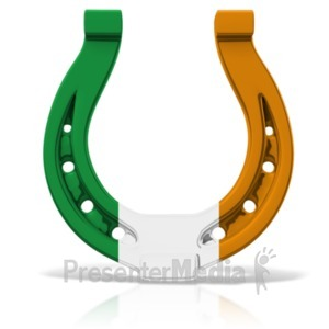 ID# 19956 - Irish Colored Horseshoe - Presentation Clipart