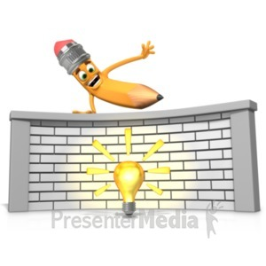 ID# 19961 - Getting Over Idea or Writers Block - Presentation Clipart