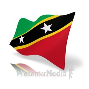 ID# 19972 - Flag Saint Kitts And Nevis - Presentation Clipart