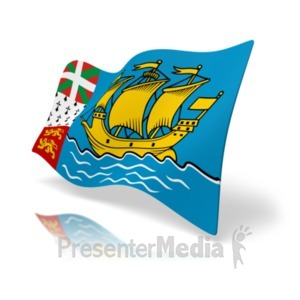 ID# 19975 - Flag Saint Pierre And Miquelon - Presentation Clipart