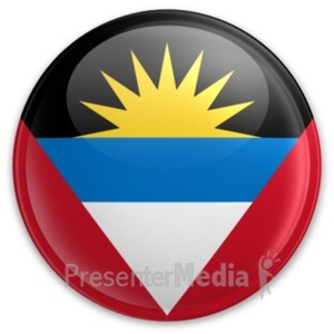 ID# 20006 - Badge of Antigua and Barbuda - Presentation Clipart