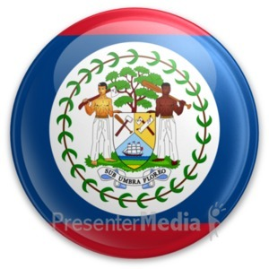 ID# 20009 - Badge of Belize - Presentation Clipart