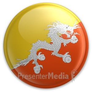 ID# 20013 - Badge of Bhutan - Presentation Clipart
