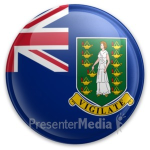 ID# 20014 - Badge of the British Virgin Islands - Presentation Clipart