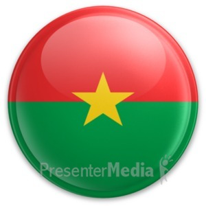 ID# 20016 - Badge of Burkina Faso - Presentation Clipart