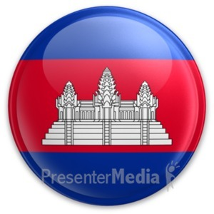 ID# 20019 - Badge of Cambodia - Presentation Clipart
