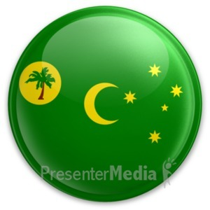 ID# 20025 - Badge of the Cocos Keeling Islands - Presentation Clipart
