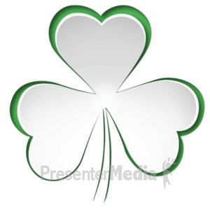 ID# 20032 - Paper Clover Cutout - Presentation Clipart