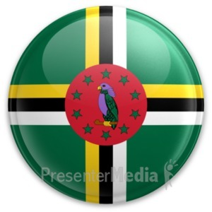 ID# 20075 - Badge of Dominica - Presentation Clipart