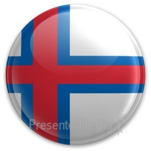 ID# 20080 - Badge of the Faroe Islands - Presentation Clipart