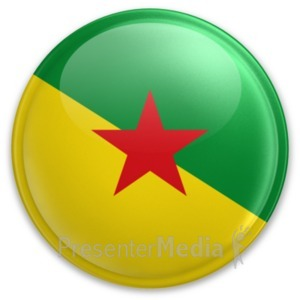 ID# 20081 - Badge of French Guiana - Presentation Clipart