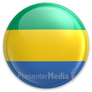 ID# 20082 - Badge of Gabon - Presentation Clipart