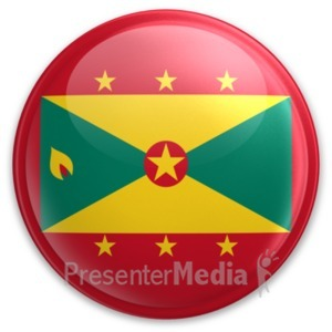 ID# 20084 - Badge of Grenada - Presentation Clipart