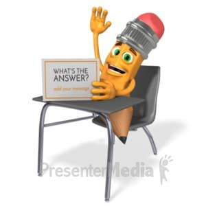 ID# 20155 - Scribbles Pencil Asking Question - Presentation Clipart