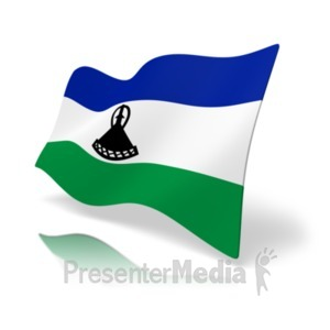 ID# 20173 - Flag Lesotho - Presentation Clipart
