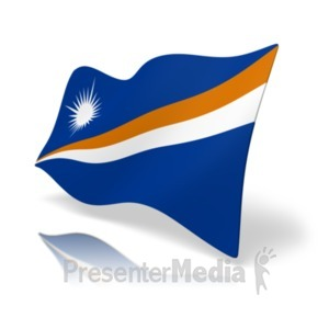 ID# 20179 - Flag Marshall Islands - Presentation Clipart