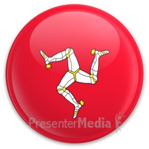 ID# 20204 - Badge of the Isle of Man - Presentation Clipart