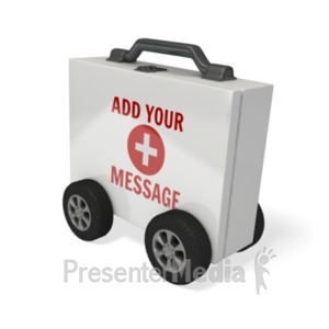 ID# 20268 - First Aid Kit Car - Presentation Clipart