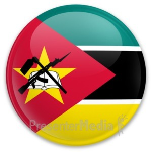 ID# 20279 - Badge of Mozambique - Presentation Clipart