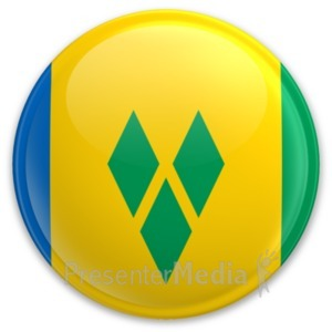 ID# 20305 - Flag Saint Vincent And The Grenadines Bu - Presentation Clipart