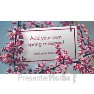 ID# 20337 - Apple Blossoms Sign - Presentation Clipart