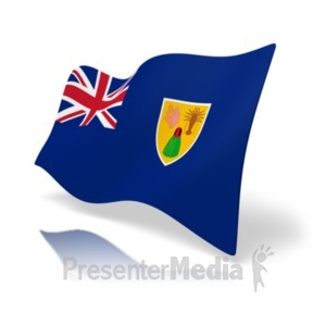 ID# 20375 - Flag Turks And Caicos - Presentation Clipart