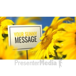 ID# 20395 - Sunflower And Sign - Presentation Clipart