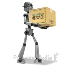 ID# 20459 - Robot Delivery - Presentation Clipart