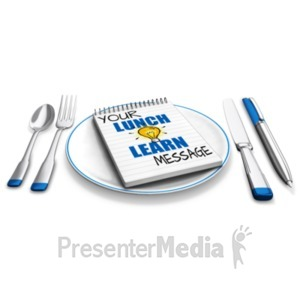 ID# 20460 - Lunch And Learn - Presentation Clipart