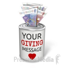 ID# 20506 - Donation Can Euro - Presentation Clipart