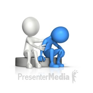 ID# 20559 - Figure Compassion To Another - Presentation Clipart