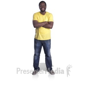 ID# 20623 - Man Standing Arms Crossed - Presentation Clipart