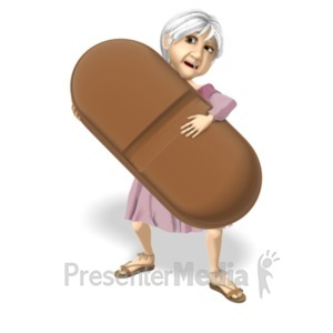 ID# 20679 - Martha Hold Giant Pill - Presentation Clipart